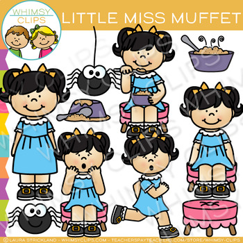 Little Miss Muffet Nursery Rhyme Clip Art