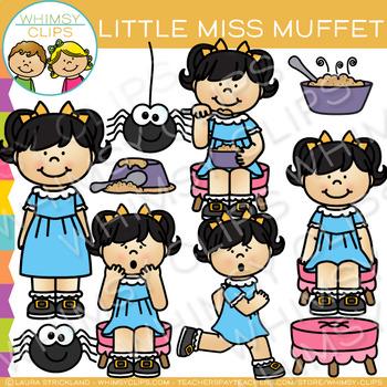 Little Miss Muffet Nursery Rhyme Clip Art