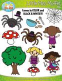 Little Miss Muffet Nursery Rhyme Clipart {Zip-A-Dee-Doo-Dah Designs}