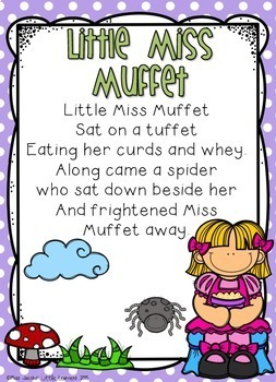 Little Miss Muffet: Nursery Rhyme Pack