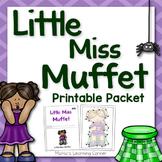 Little Miss Muffet Nursery Rhyme Packet