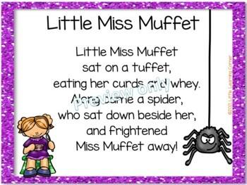 Build a Poem ~ Little Miss Muffet - Pocket Chart Center