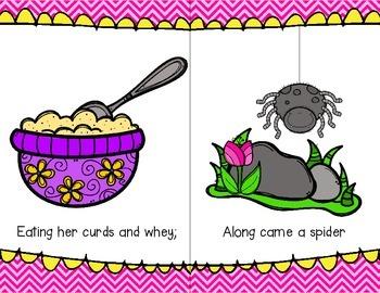 Little Miss Muffet Poem and Emergent Reader