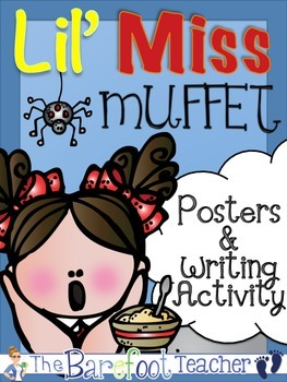 Little Miss Muffet Posters (5 Total) & Writing Activity