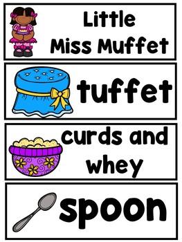Little Miss Muffet Bundle  (A Sight Word Emergent Reade Mega Book Bundle)