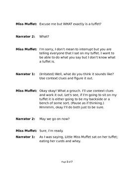 Little Miss Muffet - Small Group Reader's Theater