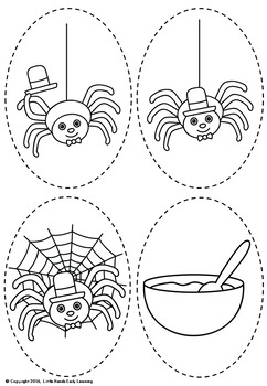 Little Miss Muffet Nursery Rhyme Puppets