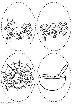Little Miss Muffet Nursery Rhyme Puppets