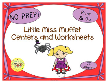 Little Miss Muffet Activities