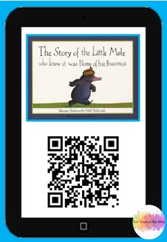 Little Mole who knew it was none of his business- Qr Code Comprehension Pack