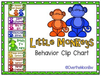 Little Monkeys Themed Behavior Clip Chart
