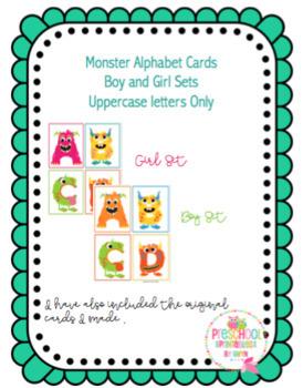 Little Monster Alphabet Cards