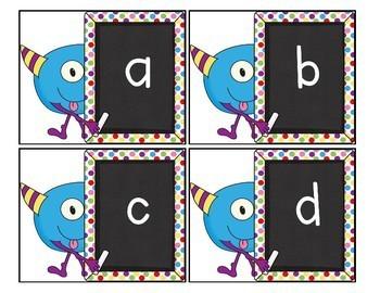 Little Monster Alphabet Match-Up