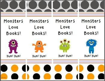 Little Monster Bookmarks
