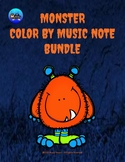 Little Monster Color By Music Note Rhythm Coloring BUNDLE