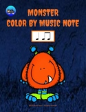 Little Monster Color By Music Note Rhythm Coloring - Quarter Note/Eighth Note