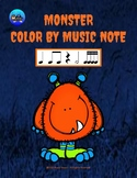 Little Monster Color By Music Note Rhythm Coloring - Sixteenth Notes