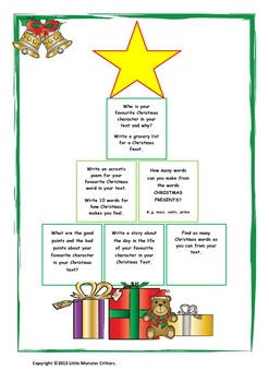 Little Monster Critters Christmas Tree Matrix
