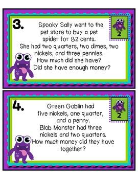 Little Monster Money Match Tiered Math Tub