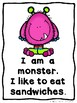 Little Monster Sight Word Readers  (3 Emergent Readers and Teacher Lap Books)