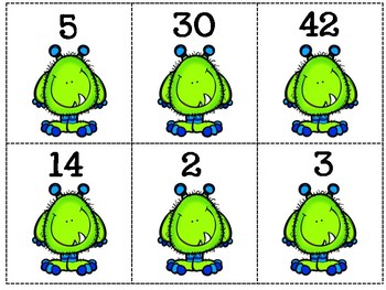 Little Monsters 2-Digit Subtraction Matching