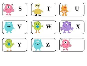 Little Monster's ABC's...Upper Case & Lower Case Cards