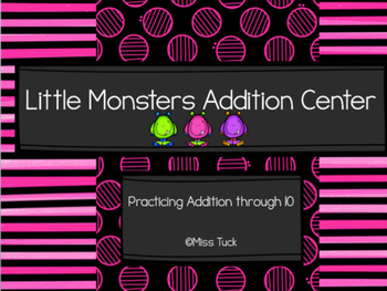Little Monsters Addition Center