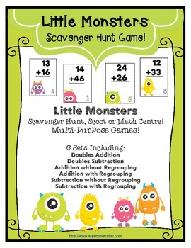 Little Monsters Addition and Subtraction - Multi-purpose Games!