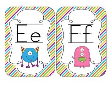 Little Monsters Alphabet Cards