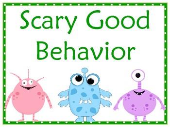 Little Monsters Behavior Clip Chart