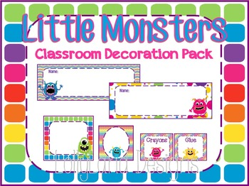 Little Monsters Classroom Decoration Pack