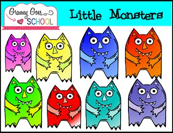 Little Monsters Clip Art