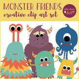 Creative Monsters Clip Art Set