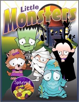 Little Monsters Clip Art Pack for Halloween Based Activities