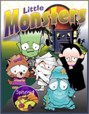 Little Monsters Clip Art Pack for Halloween Based Activities
