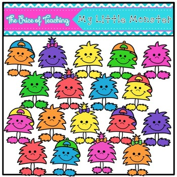 My Little Monster Clipart Set