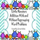 Little Monsters Double Digit Word Problem Practice