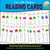 Dolch Sight Word Reading Strip (Cute Little Monsters)
