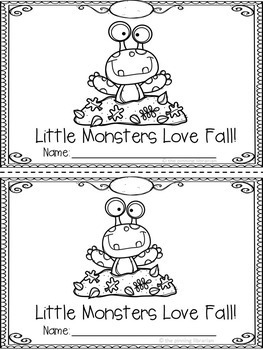 Little Monsters Love Fall! Emergent Reader
