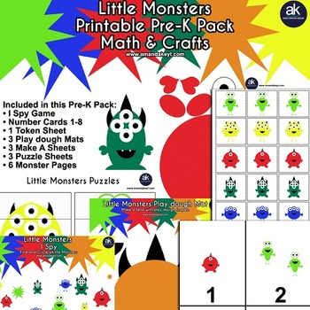 Little Monsters Math and Crafts Printable Pack