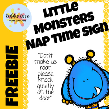 Little Monsters Nap Time Sign