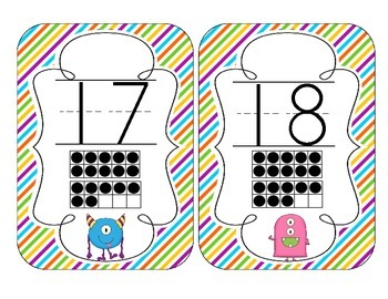 Little Monsters Number Cards 1-20