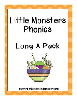 Little Monsters Phonics: Long A Pack