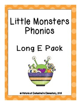 Little Monsters Phonics: Long E Pack