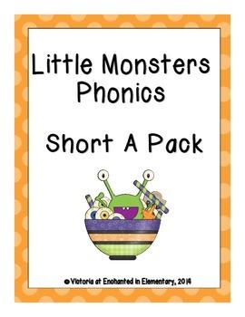 Little Monsters Phonics: Short A Pack