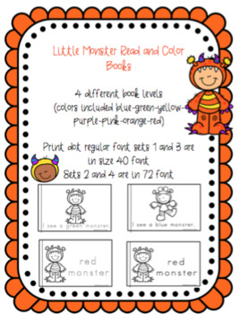 Little Monsters Read and Color Books