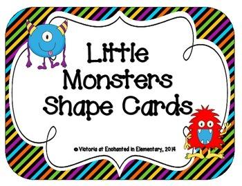 Little Monsters Shape Cards