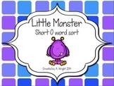 Little Monsters Short O Word Sort