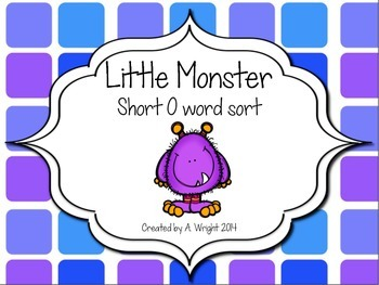 Little Monsters Short O Word Sort