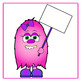 Monsters with Signs:  Little Monsters Clip Art